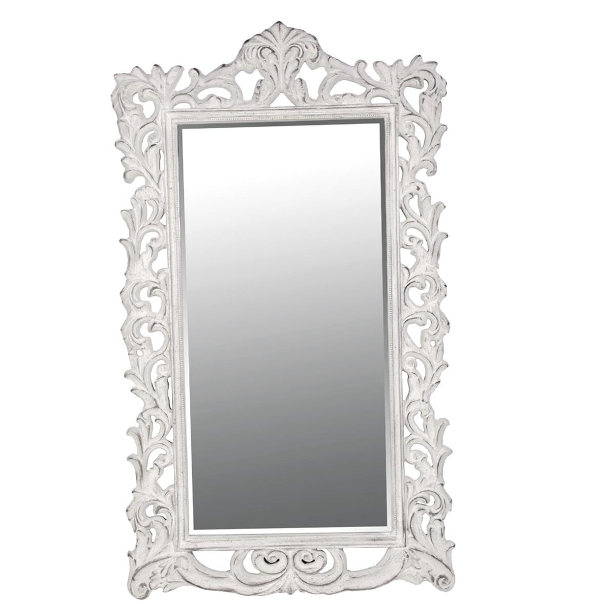 Antique White Full Length Mirror