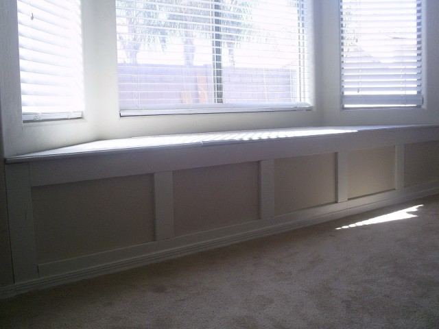 Bay Window Bench In Kitchen