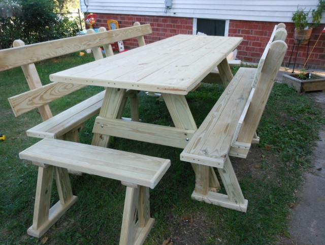 Bench Picnic Table Combo Plans