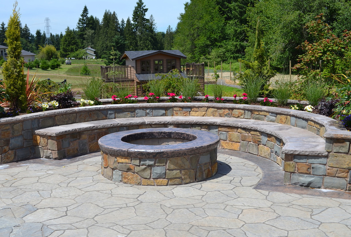 Benches Around Fire Pit
