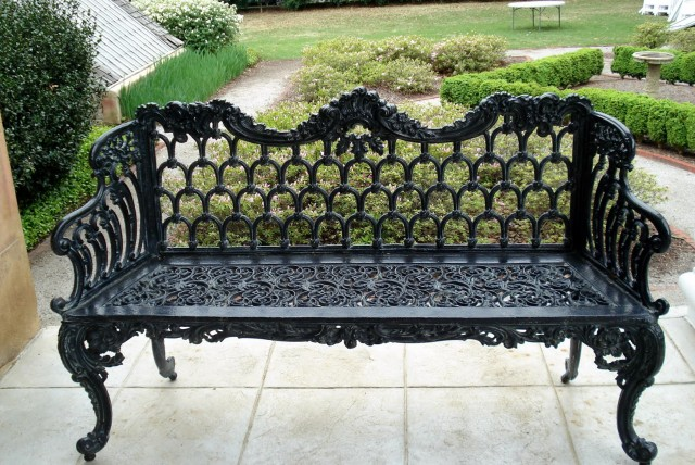 Black Wrought Iron Benches