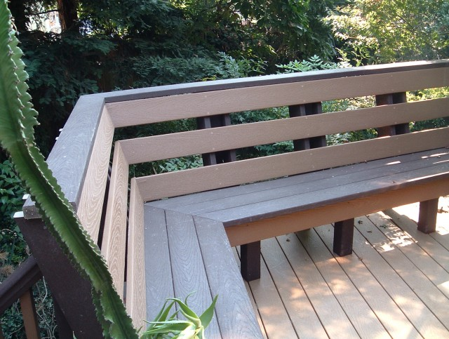 Built In Deck Benches With Backs