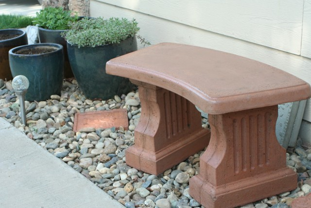Concrete Garden Bench Lowes