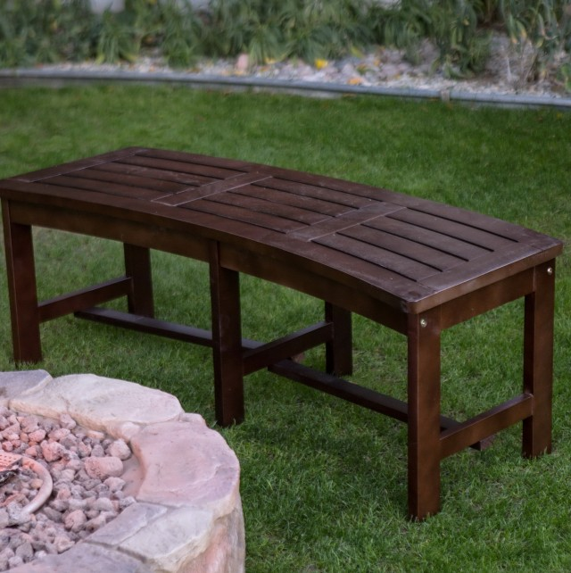 Curved Bench Dining Seating