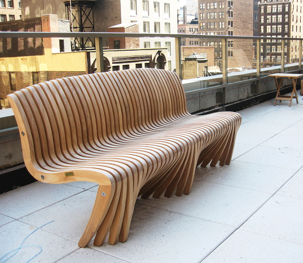 Decorative Outdoor Wooden Benches