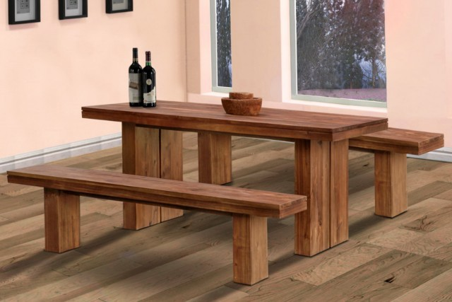 Dining Tables With Benches With Backs