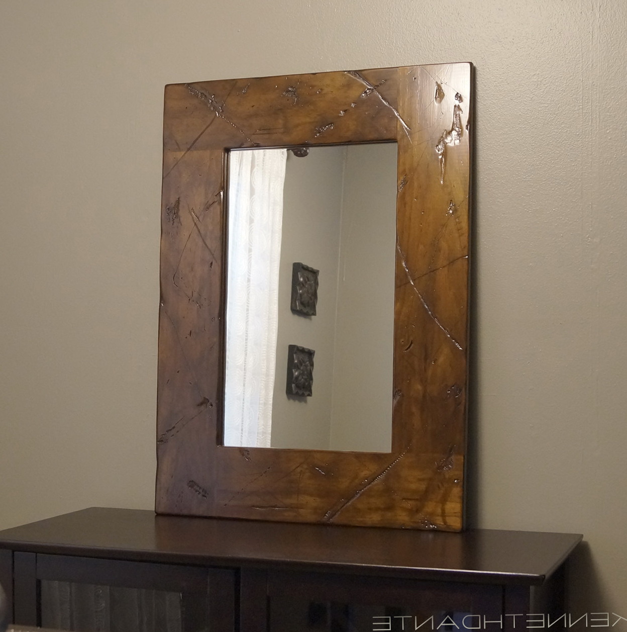 Distressed Wood Framed Mirrors