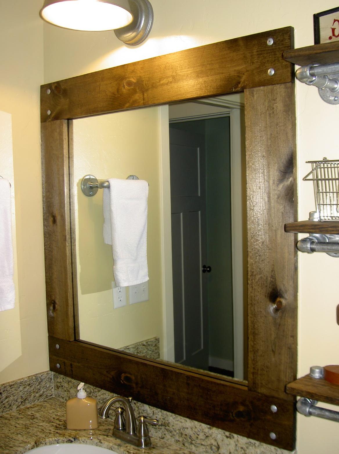 Diy Framed Mirrors For Bathroom