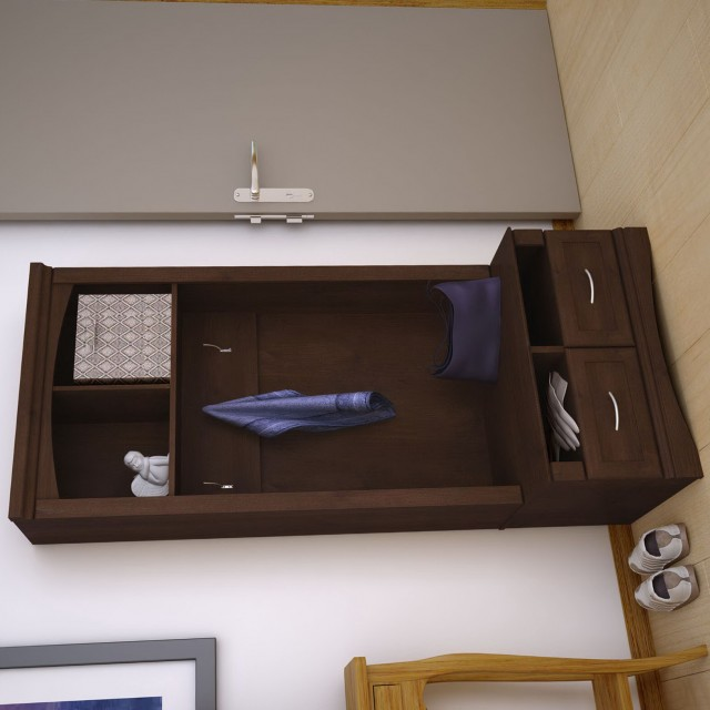 Entry Storage Bench With Hooks