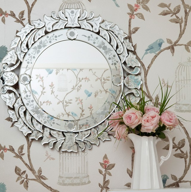 Fancy Round Wall Mirrors