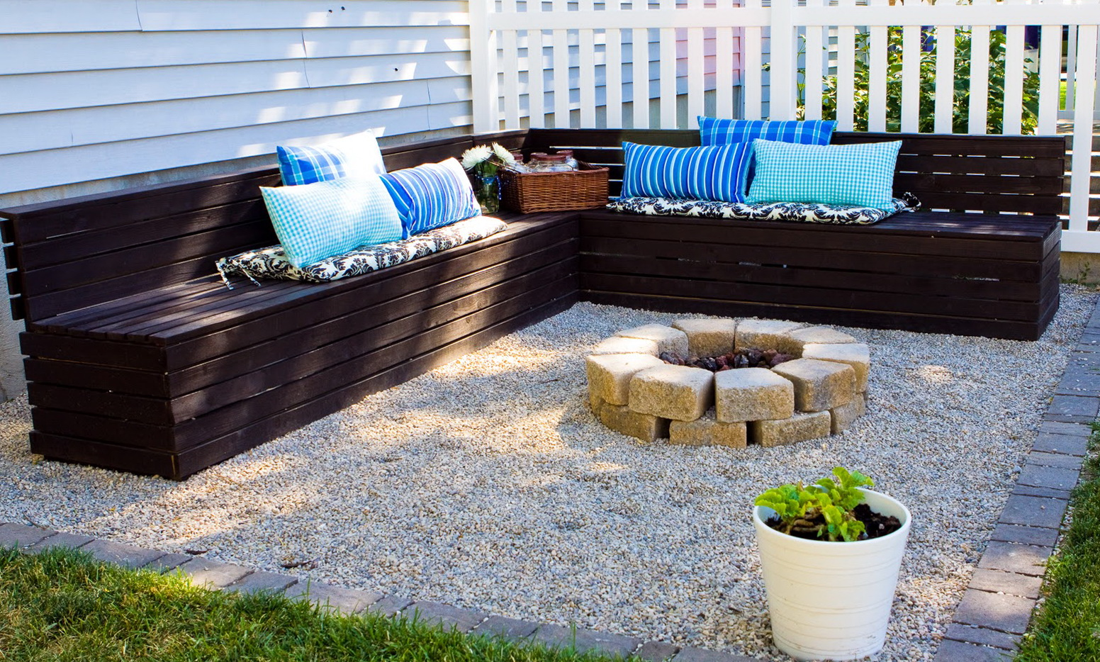 Fire Pit Benches With Backs