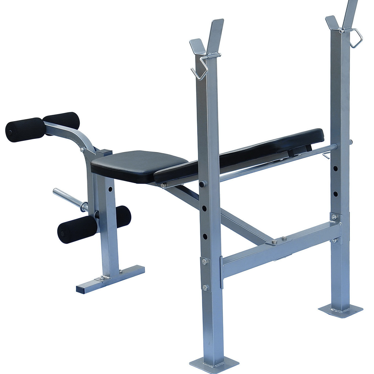 Flat Weight Bench With Rack