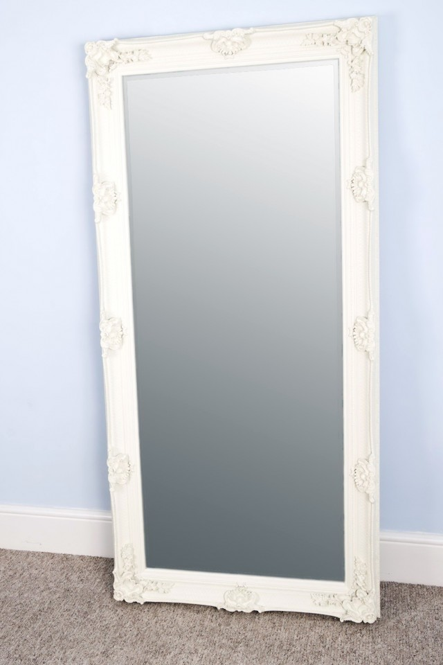 Floor Standing Antique Mirror