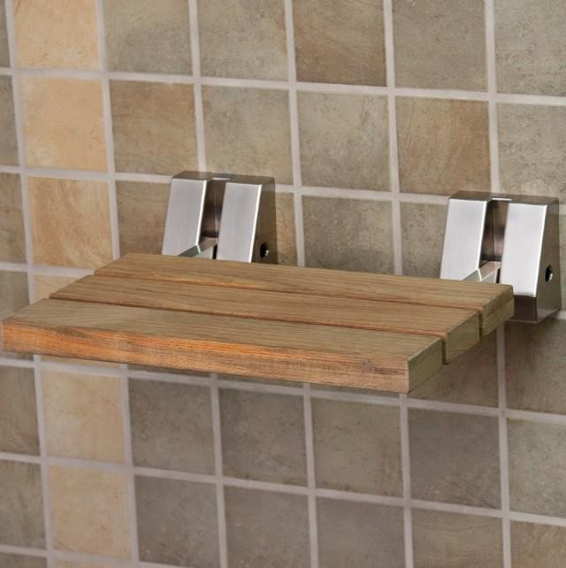 Folding Shower Bench Wood