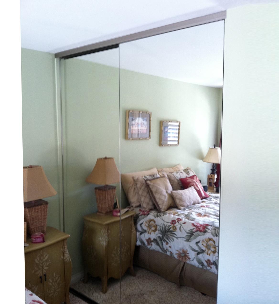 Frameless Closet Mirror Doors
