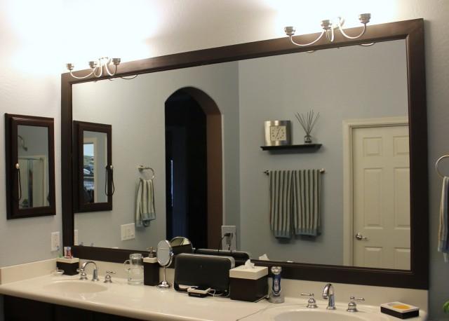 Framing Bathroom Mirror Diy