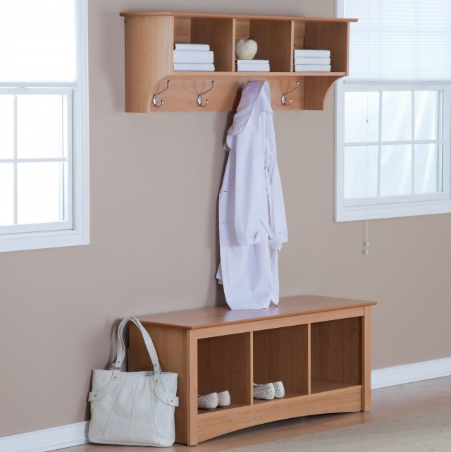 Front Door Bench Coat Rack