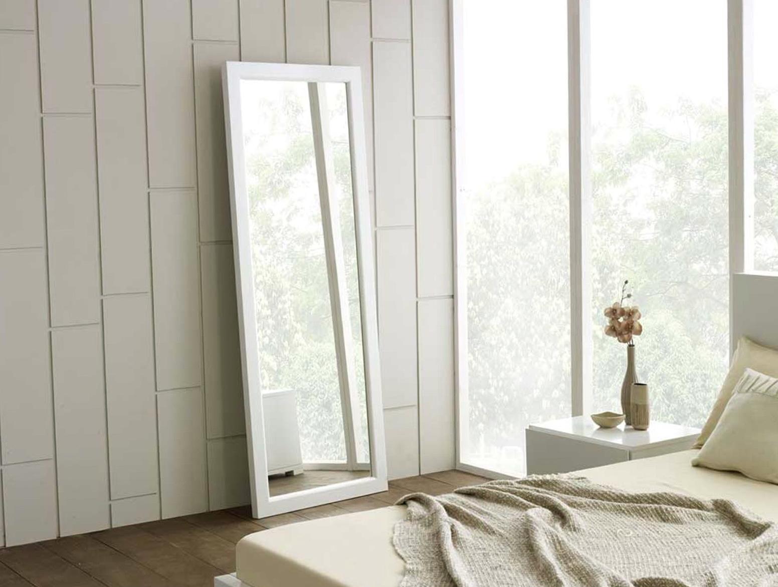 Full Length Floor Mirror White