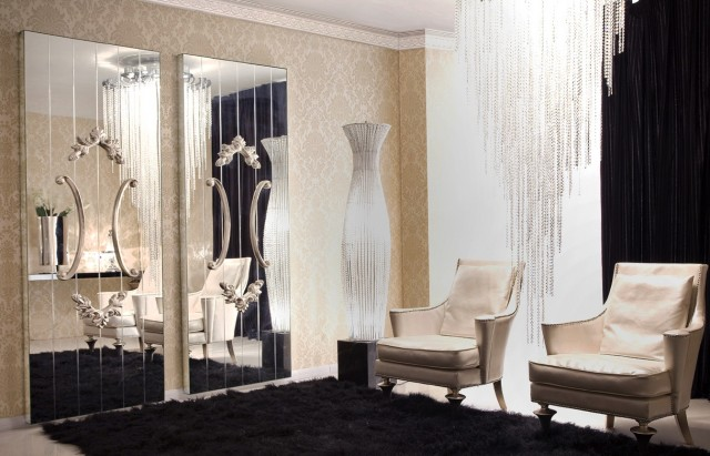 Full Wall Mirror Decorating