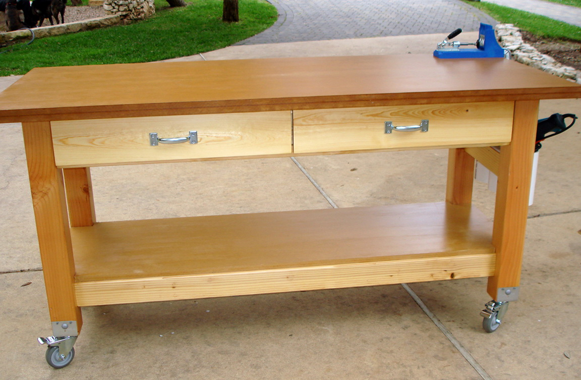 Garden Work Bench On Wheels
