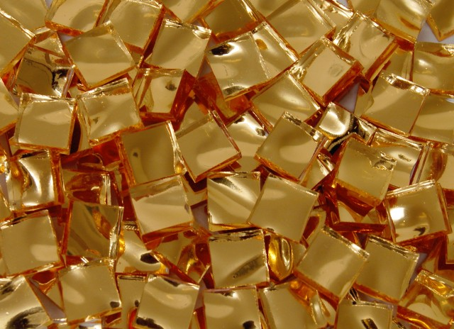 Gold Mosaic Mirror Tiles