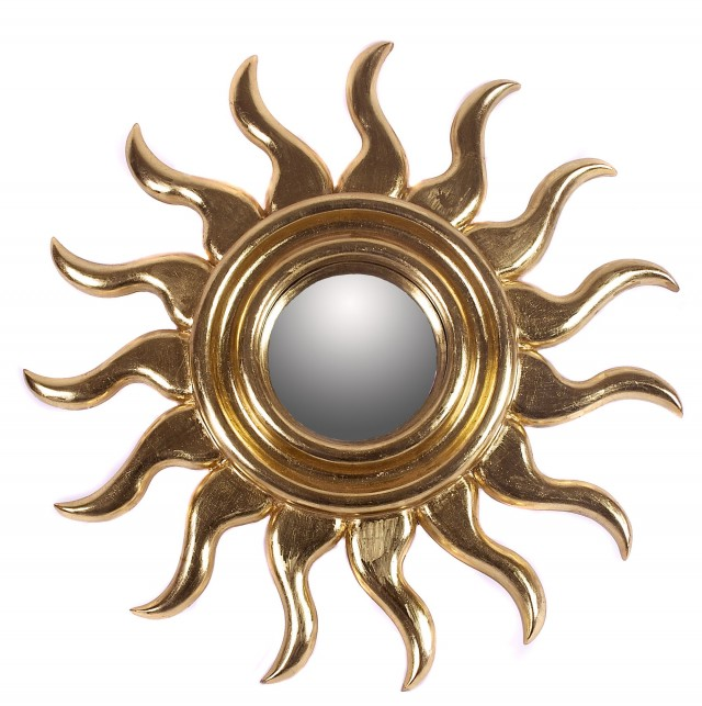 Gold Sunburst Mirror Wall Decor
