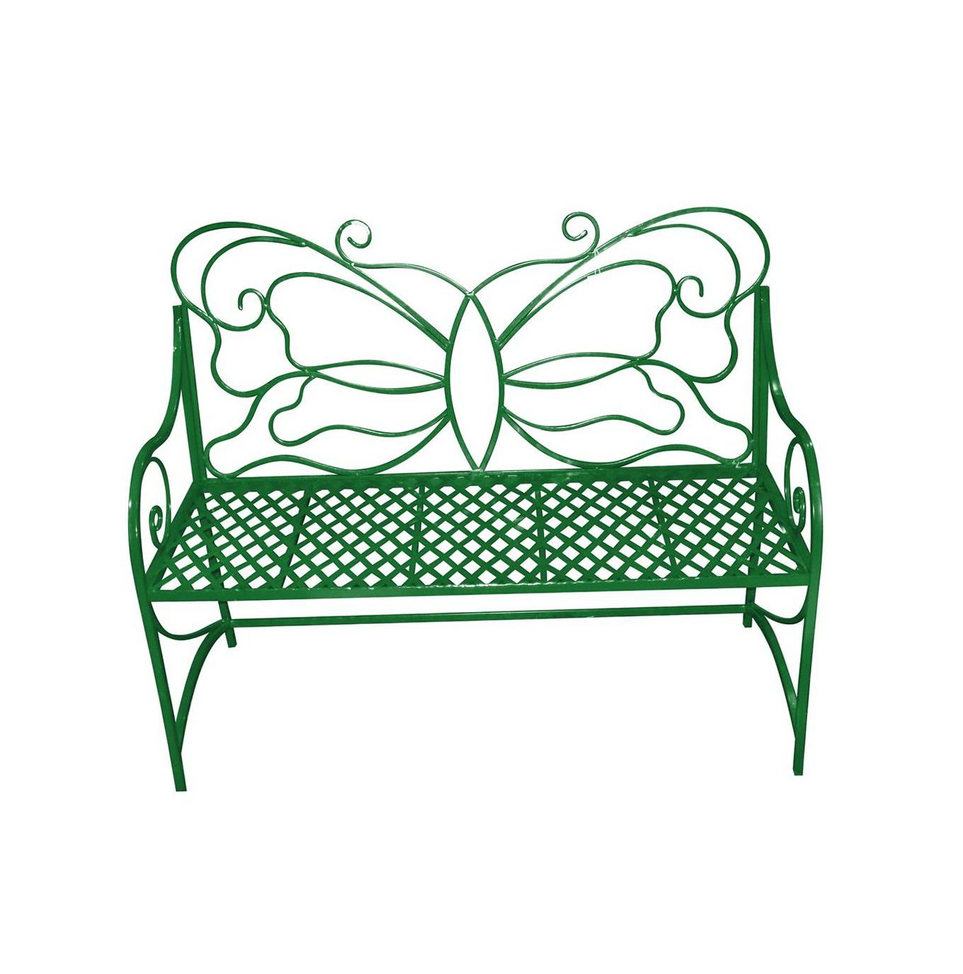 Green Metal Garden Bench