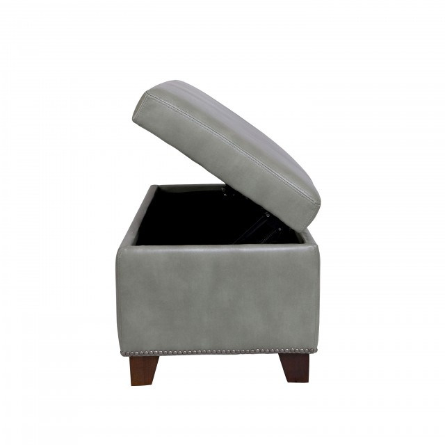 Grey Storage Ottoman Bench