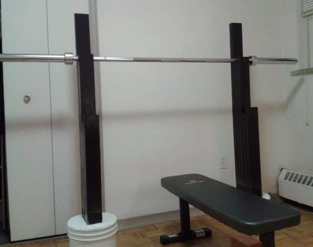 Homemade Squat Bench Rack