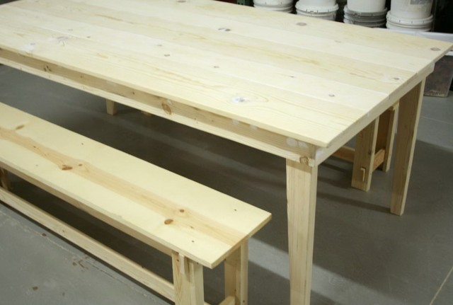 Kitchen Table Bench Plans