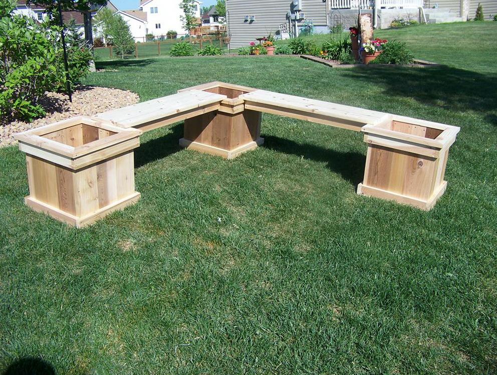 L Shaped Bench Plans