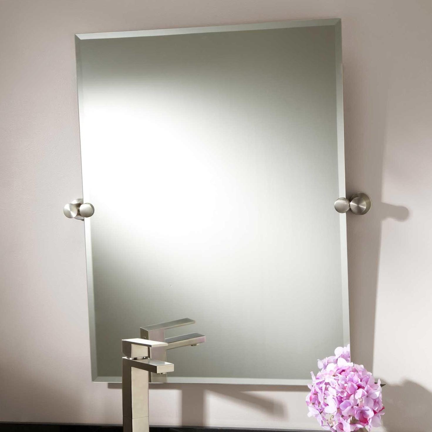 Large Bathroom Mirrors Brushed Nickel