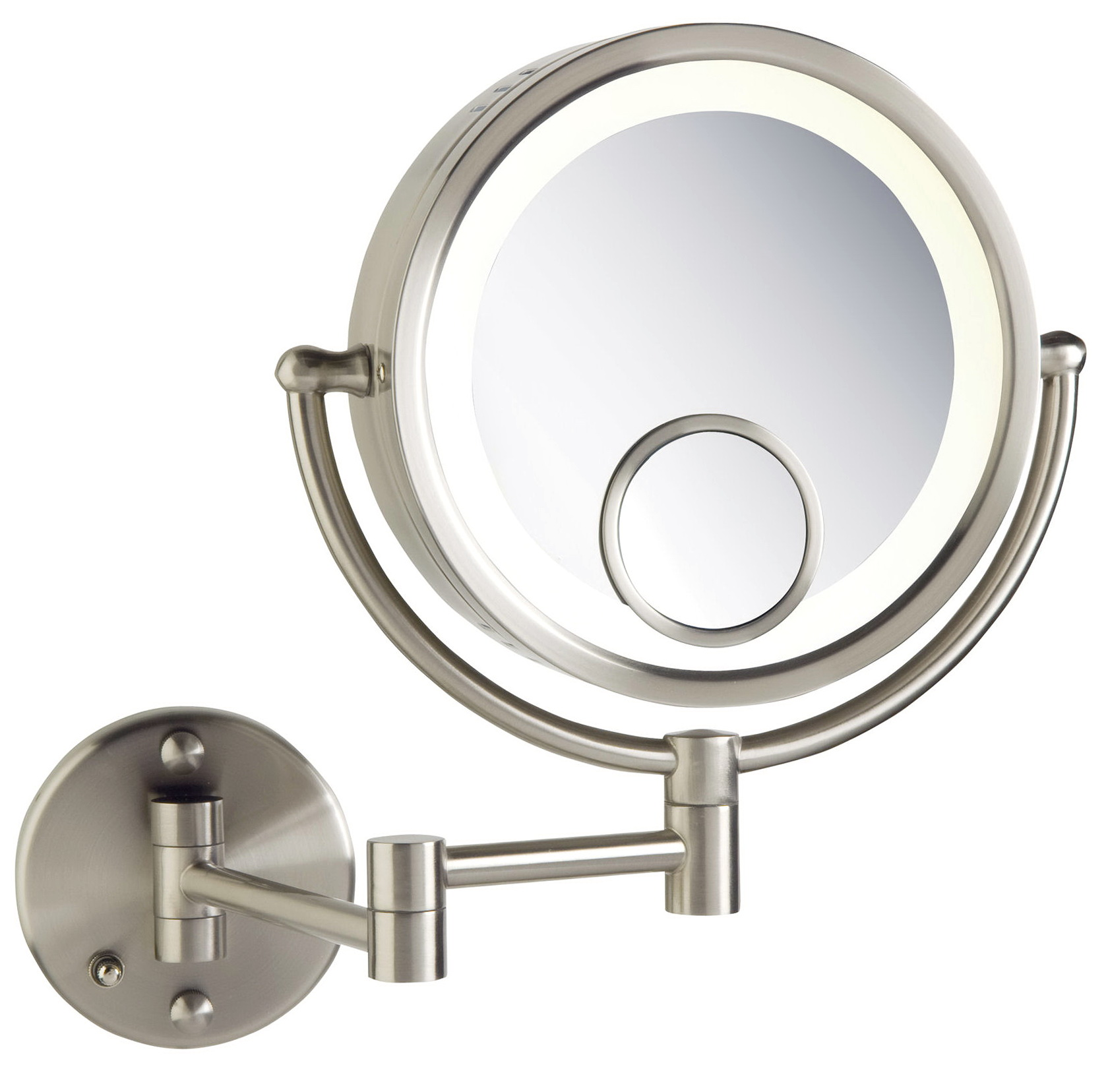 Magnifying Makeup Mirror With Light Wall Mounted