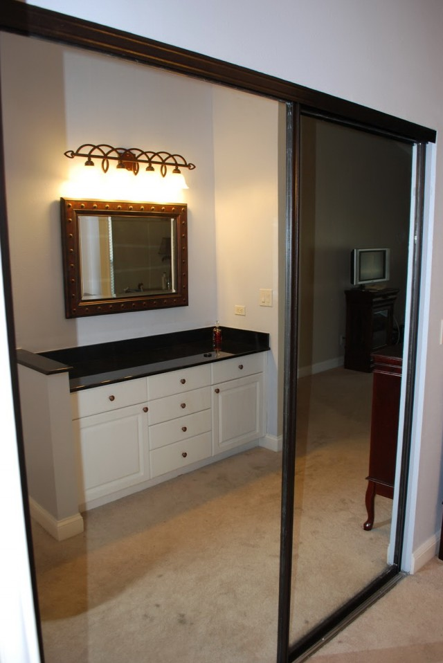 Oil Rubbed Bronze Mirrored Closet Doors