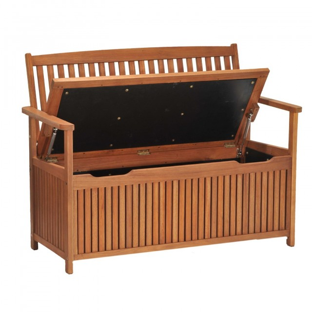 Outdoor Wooden Storage Bench