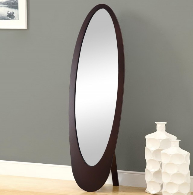 Oval Standing Floor Mirror