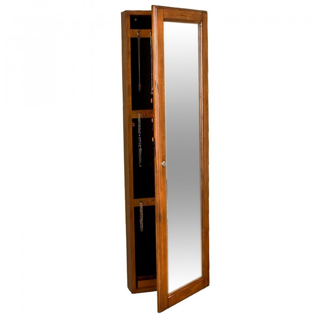 Over The Door Jewelry Armoire With Full Length Mirror