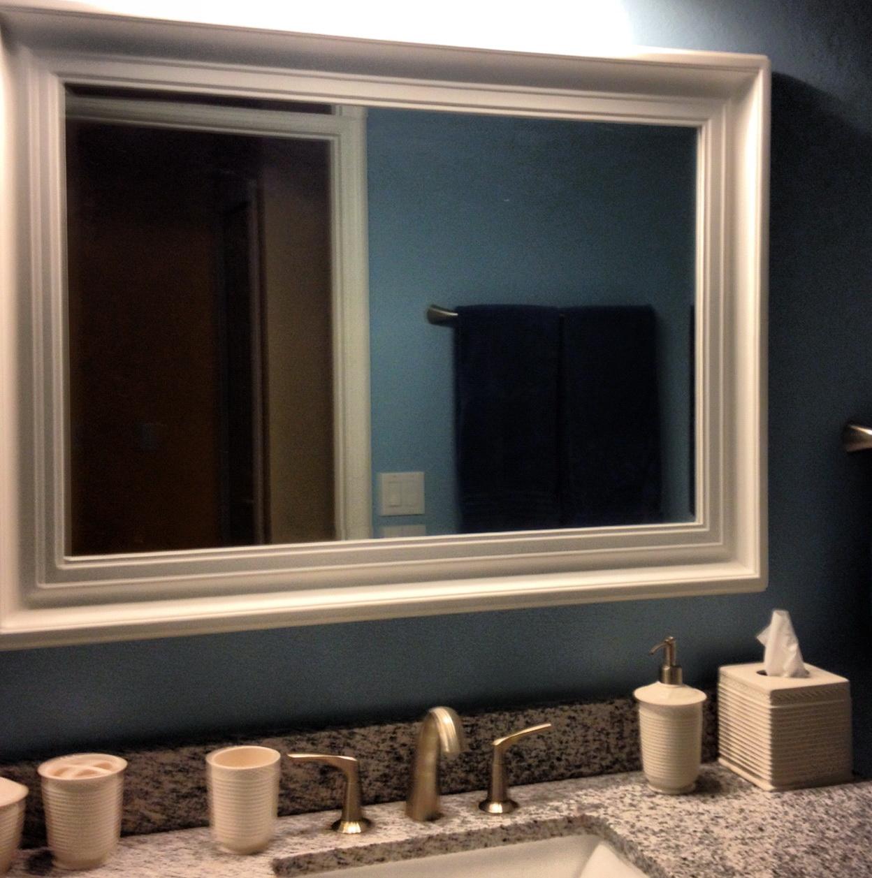 Picture Frame Bathroom Mirror