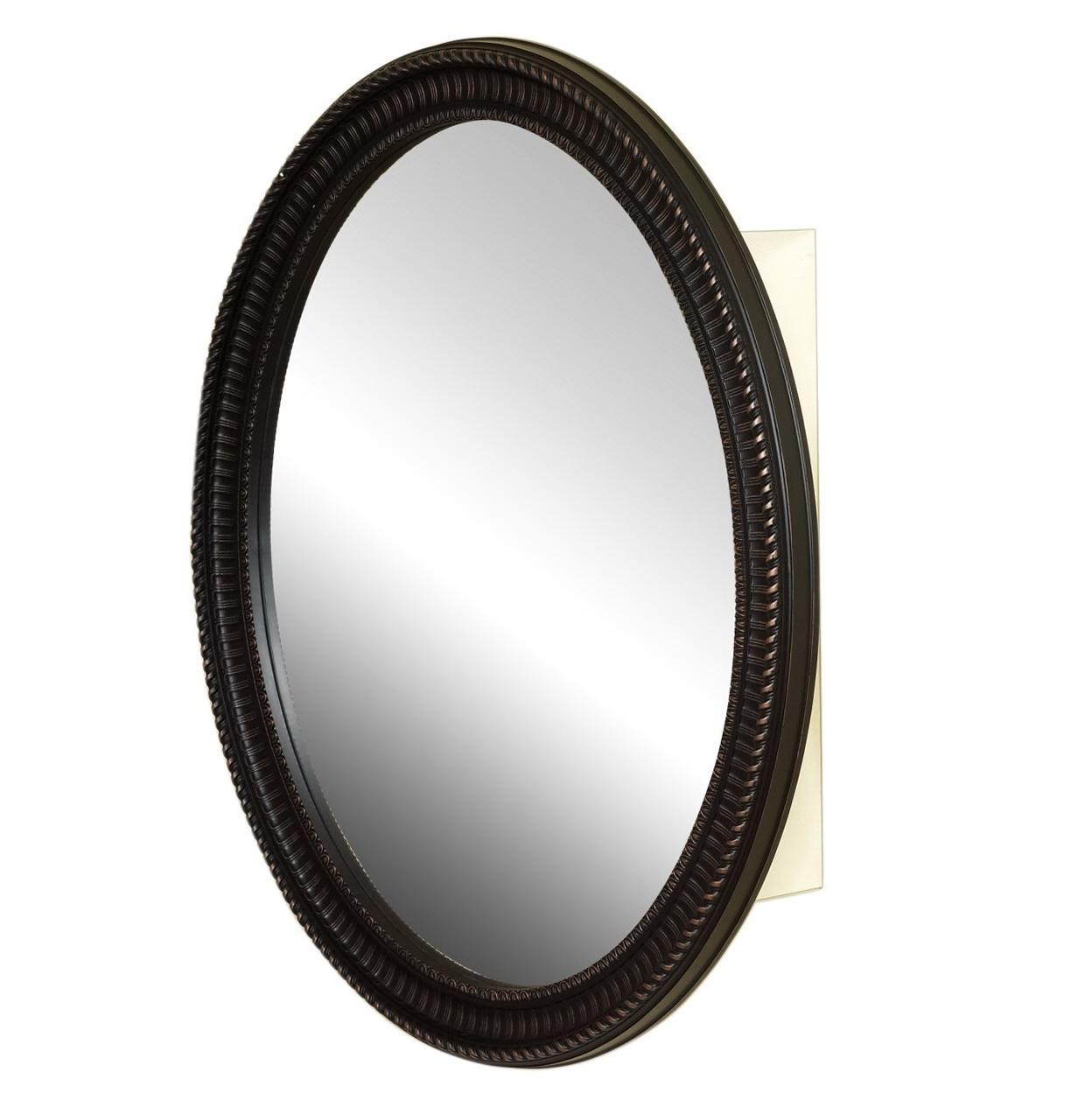 Round Oil Rubbed Bronze Mirror