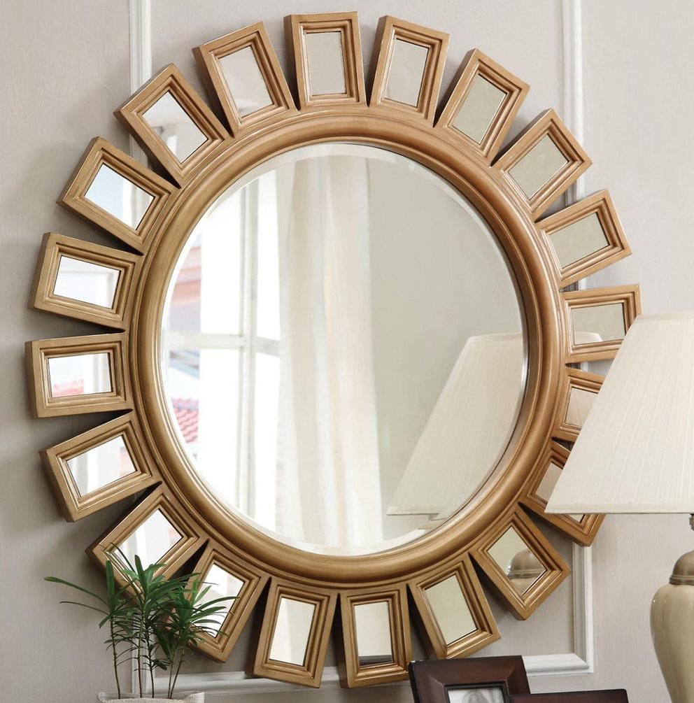Round Sunburst Wall Mirror