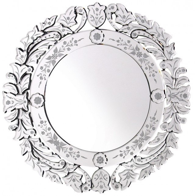 Round Venetian Glass Mirrors