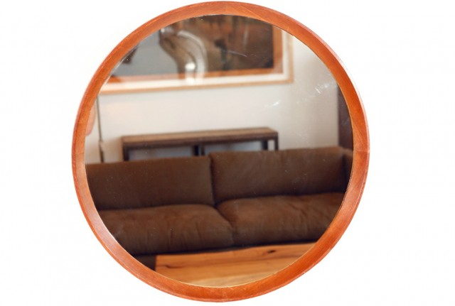 Round Wood Framed Mirrors