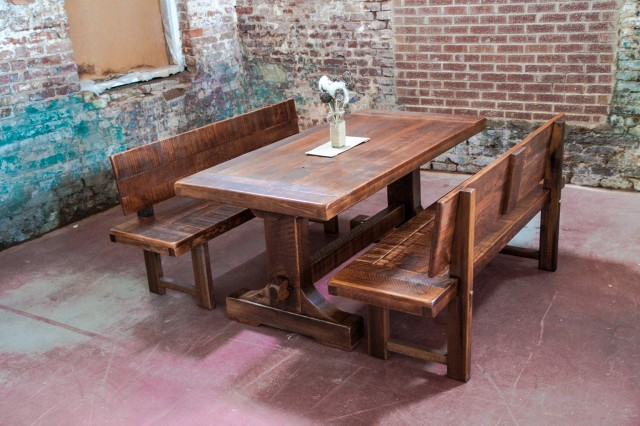 Rustic Dining Tables With Benches