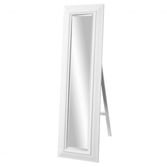 Scroll Design Full Length Cheval Mirror White