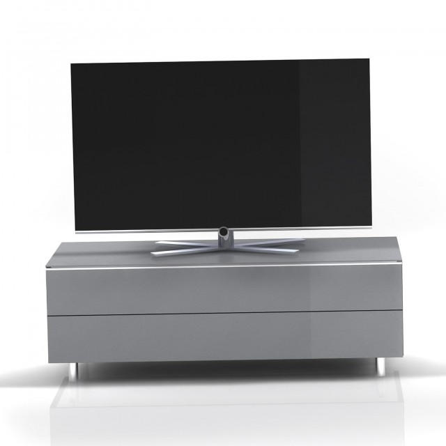 Silver Mirrored Tv Stand