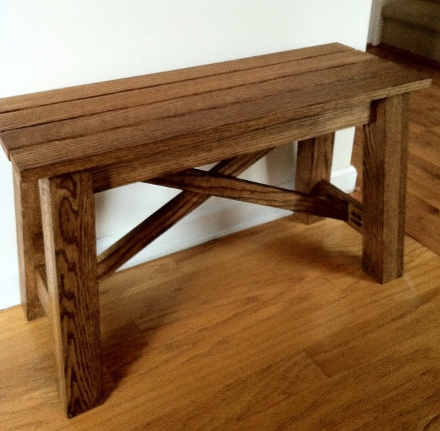 Small Rustic Wood Bench