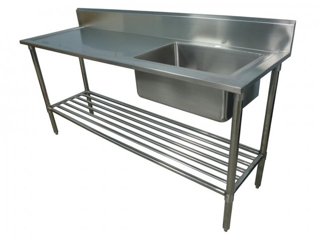 Stainless Steel Work Bench With Sink