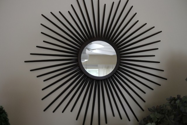 Sunburst Mirror Over Fireplace