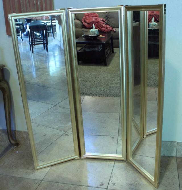 Tri Fold Floor Standing Mirror