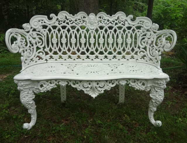 Victorian Cast Iron Bench